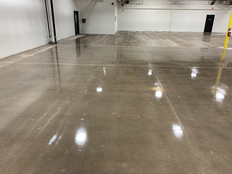 Newly Sealed Manufacturing and Warehouse Concrete Floor