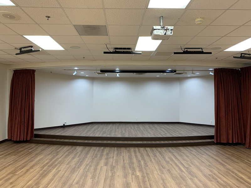 New flooring and stage performance area