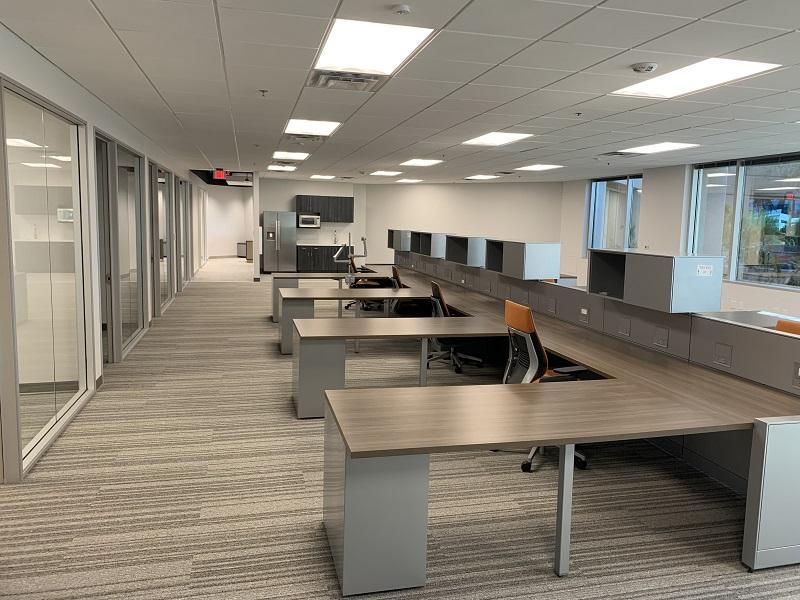 Finished office renovation