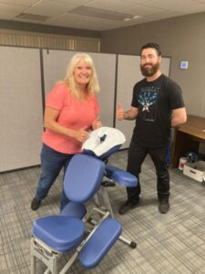 Labor Day 2021 Celebration - Chair Massages by Backfit Health + Spine